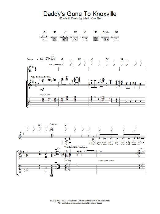 Daddy's Gone To Knoxville (Guitar Tab)