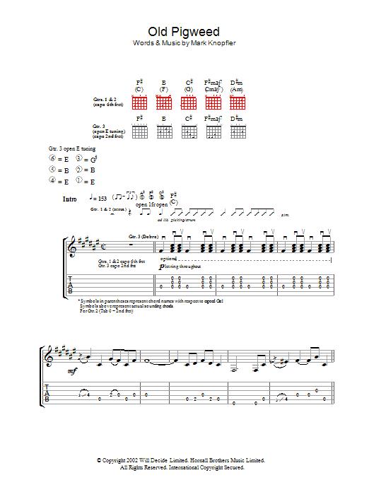 Old Pigweed (Guitar Tab)