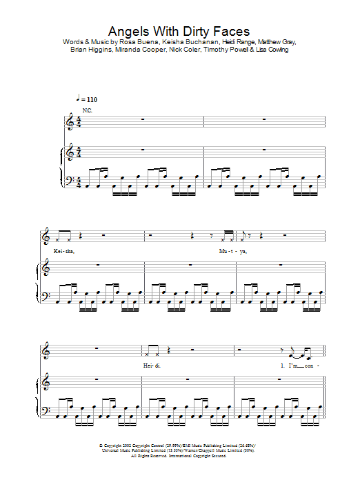 Angels With Dirty Faces Sheet Music