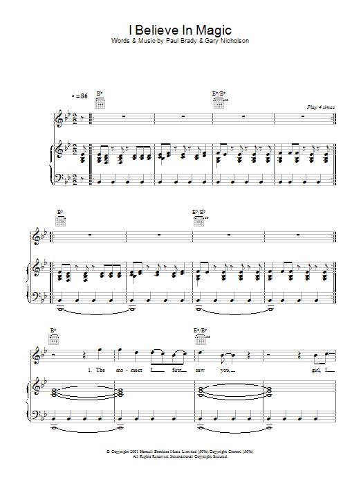 I Believe In Magic (Piano, Vocal & Guitar)