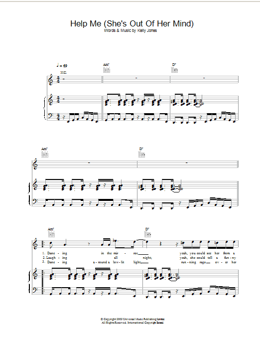 Help Me (She's Out Of Her Mind) Sheet Music