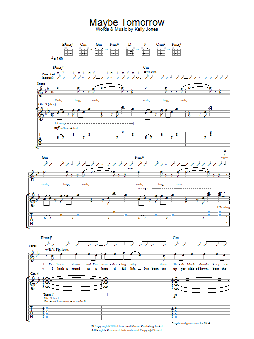 Maybe Tomorrow (Guitar Tab)