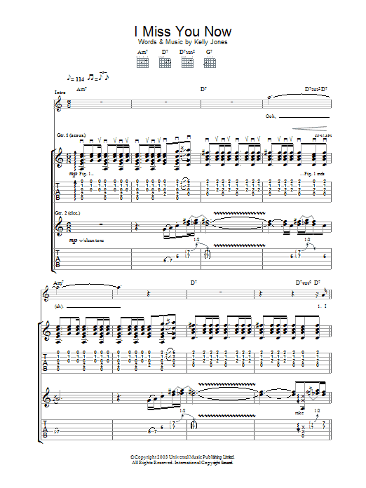 I Miss You Now Sheet Music