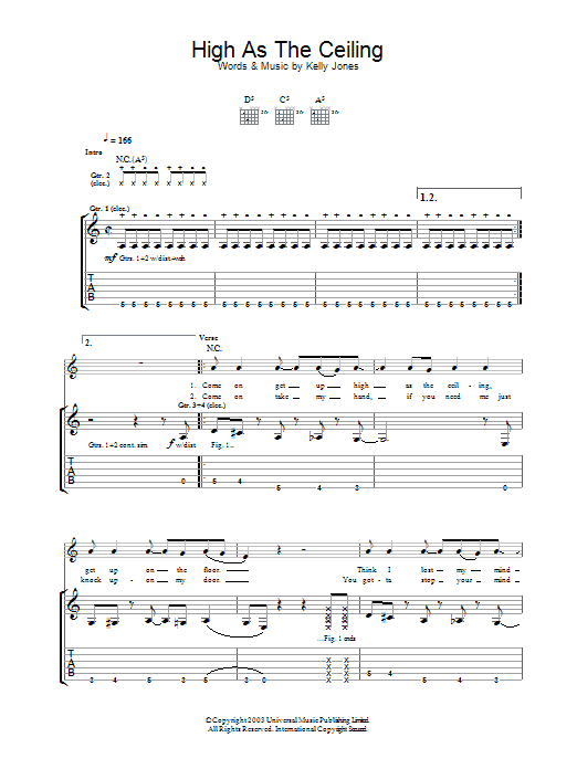 High As The Ceiling (Guitar Tab)