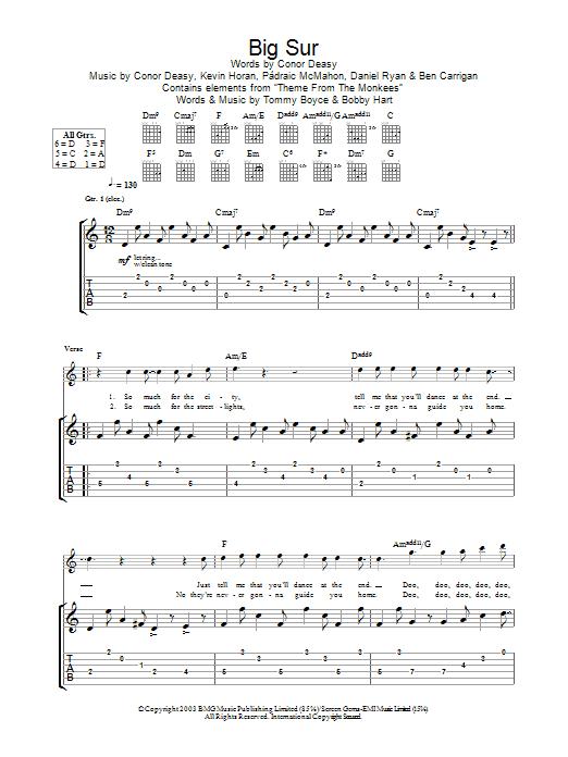 Big Sur (Guitar Tab)