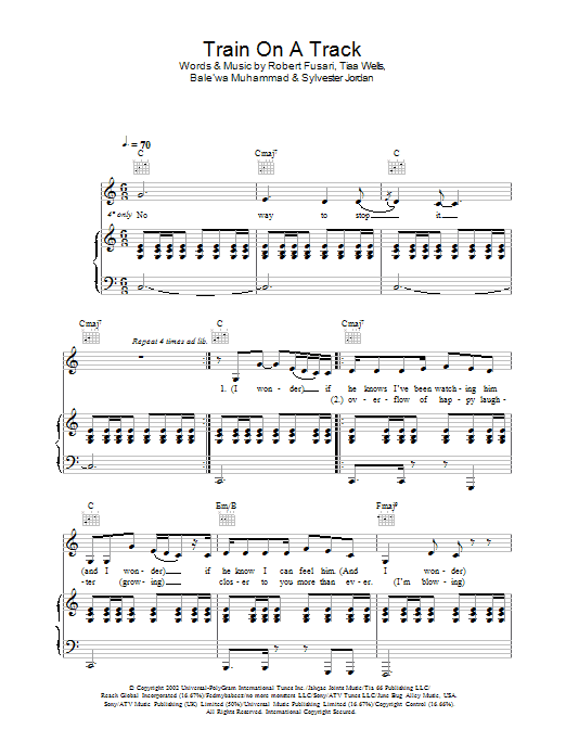 Train On A Track Sheet Music