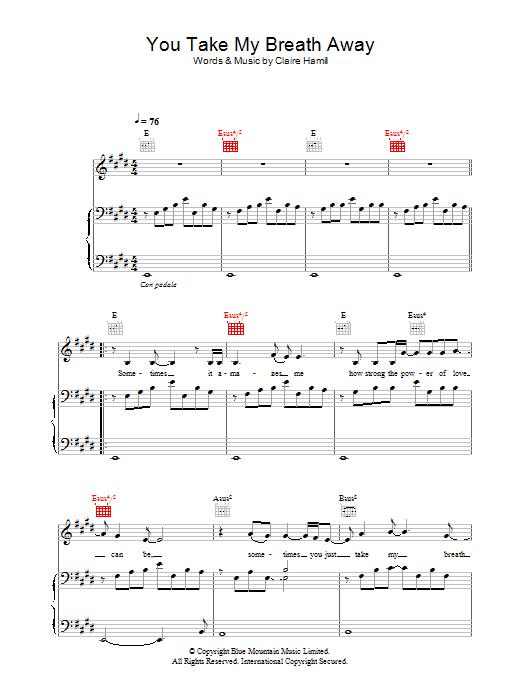 You Take My Breath Away (Piano, Vocal & Guitar)