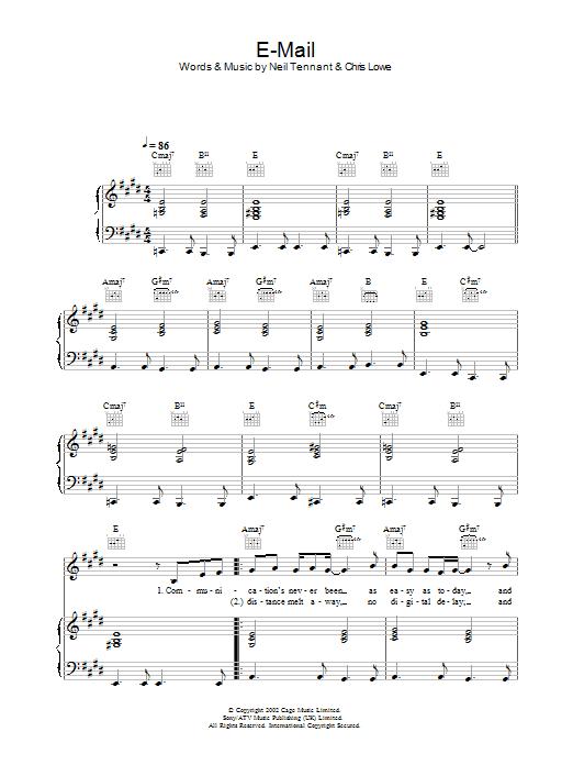 E-Mail (Piano, Vocal & Guitar)