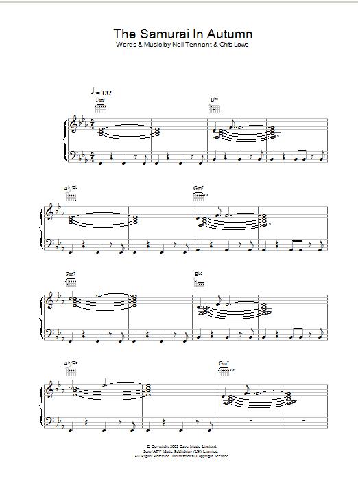 The Samurai In Autumn Sheet Music