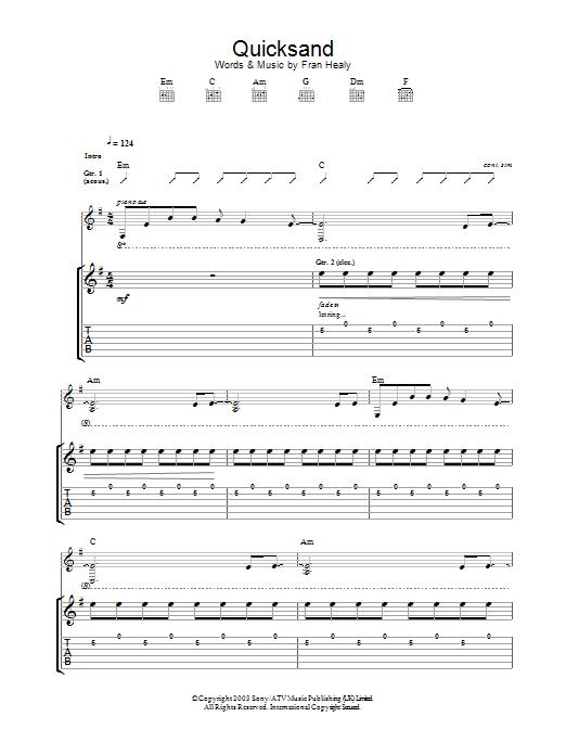 Quicksand (Guitar Tab)