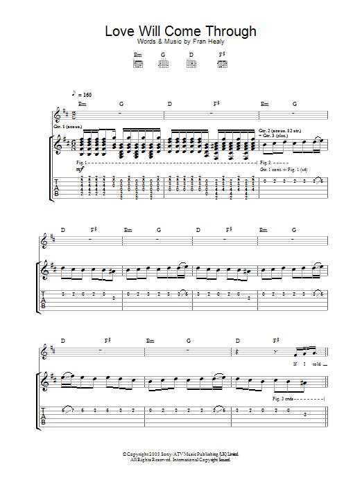 Love Will Come Through (Guitar Tab)