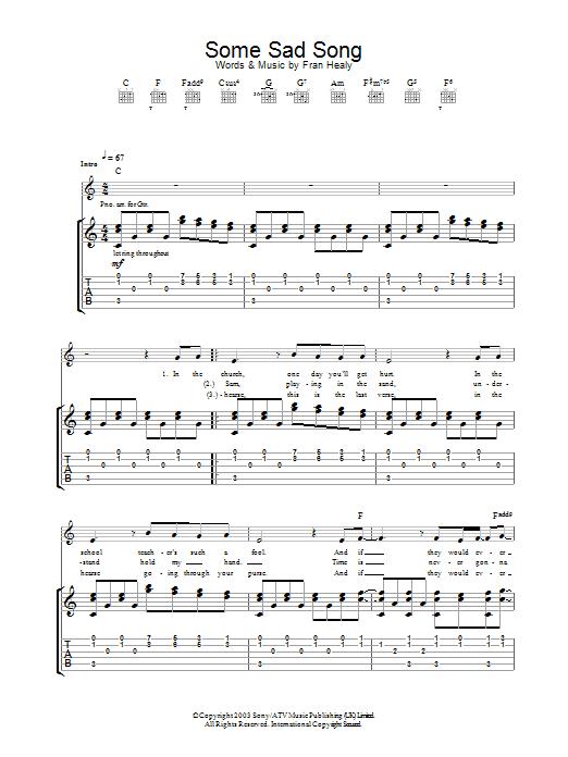 Some Sad Song (Guitar Tab)