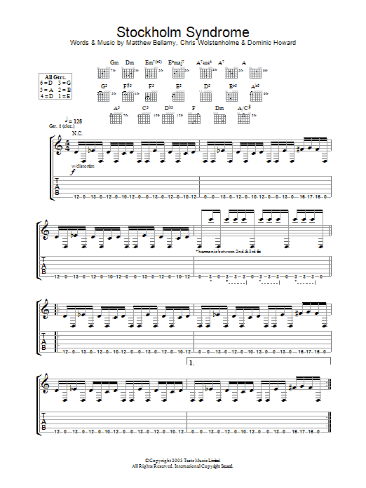 Stockholm Syndrome Sheet Music