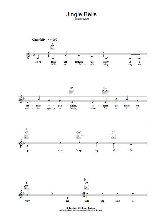 Jingle Bells chords by J. Pierpont (Melody Line, Lyrics & Chords ...