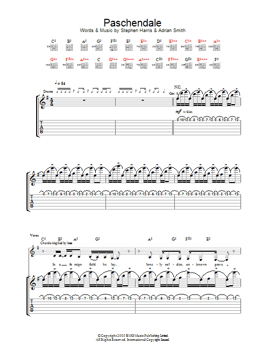 Paschendale Sheet Music