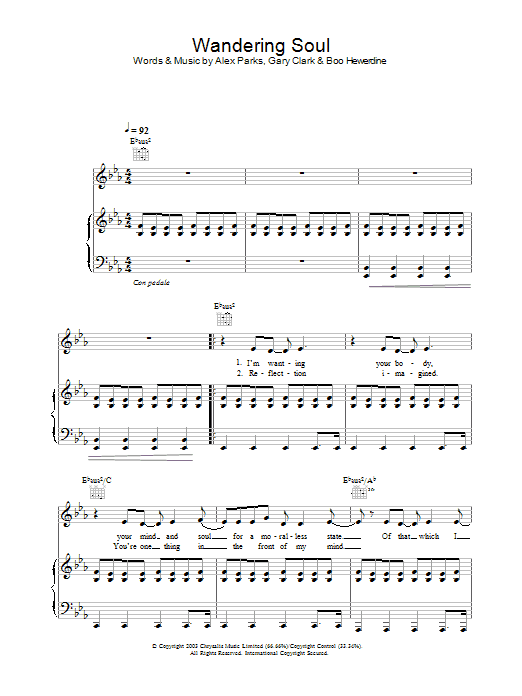 Wandering Soul Sheet Music