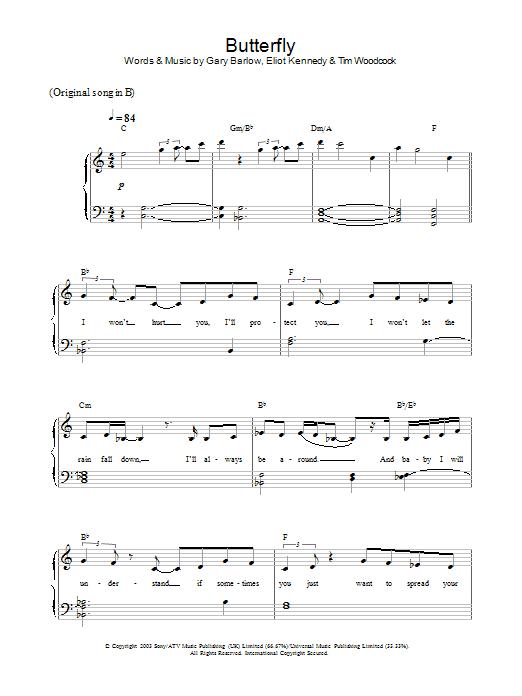 Butterfly Sheet Music