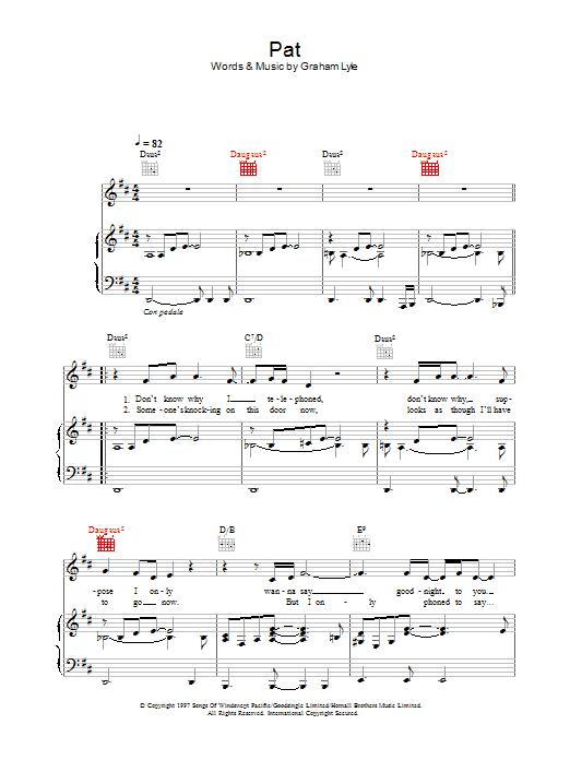 Pat Sheet Music
