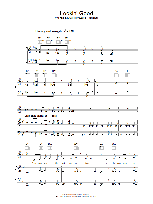 Lookin' Good (Piano, Vocal & Guitar)