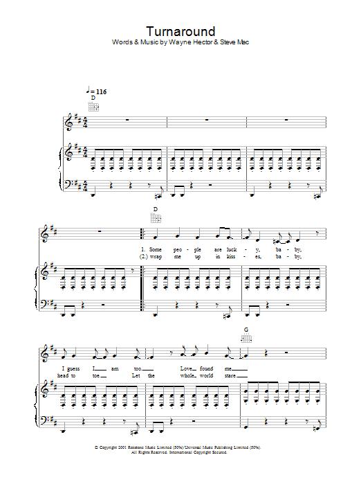 Turnaround Sheet Music