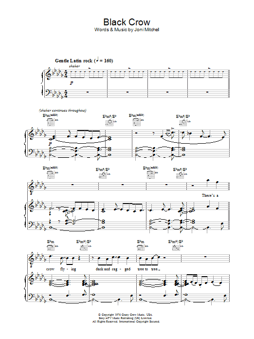 Black Crow Sheet Music