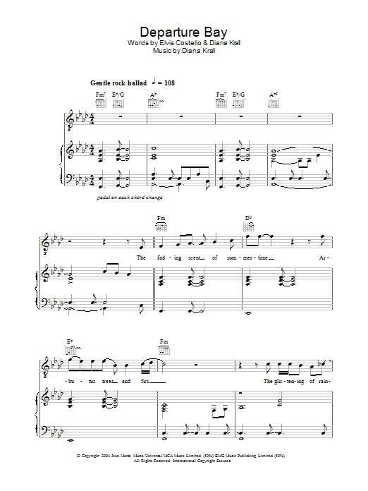 Departure Bay (Piano, Vocal & Guitar)