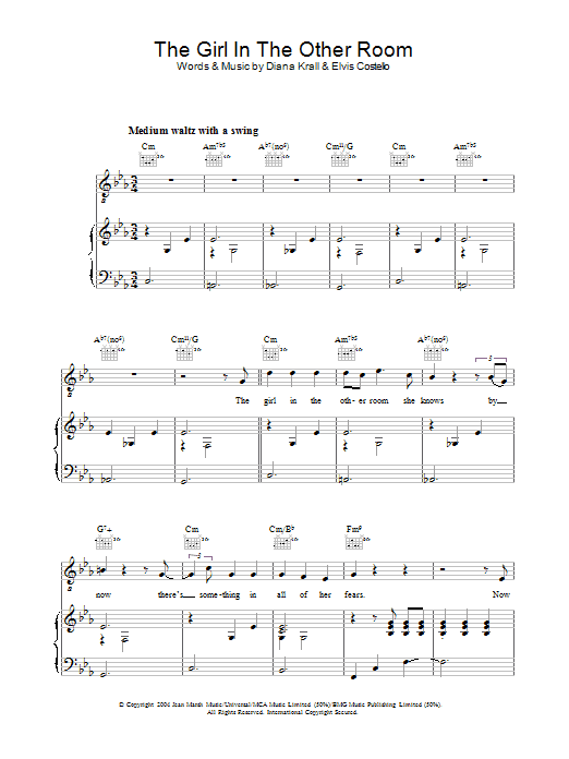 The Girl In The Other Room Sheet Music