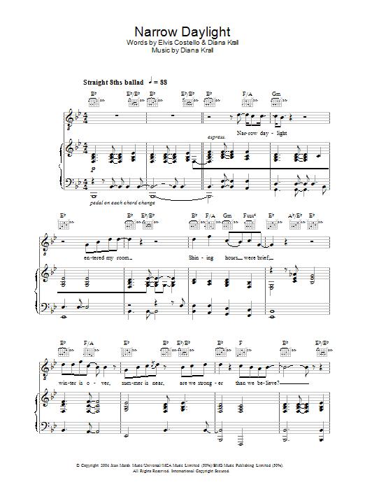 Narrow Daylight (Piano, Vocal & Guitar)