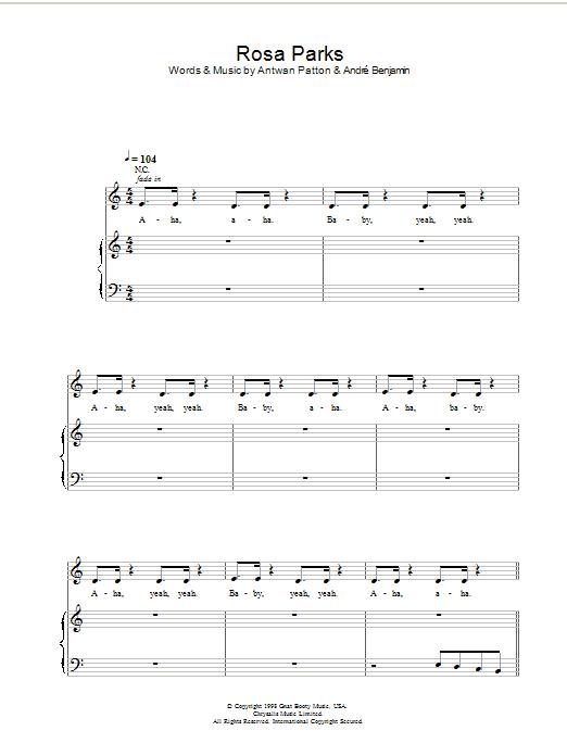 Rosa Parks (Piano, Vocal & Guitar)