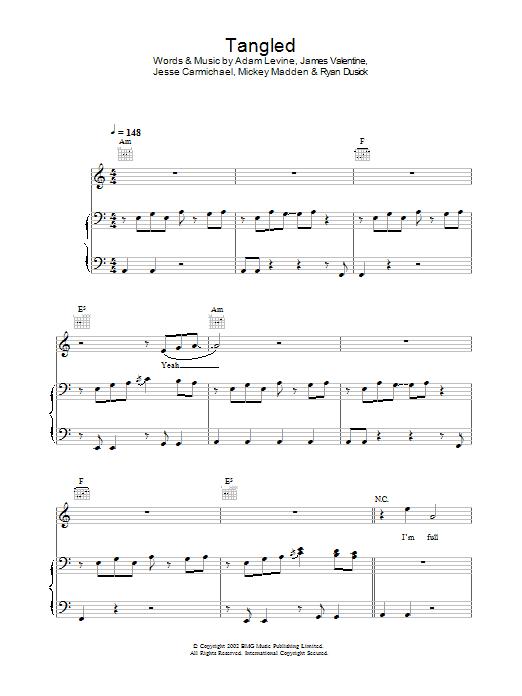 Tangled (Piano, Vocal & Guitar)