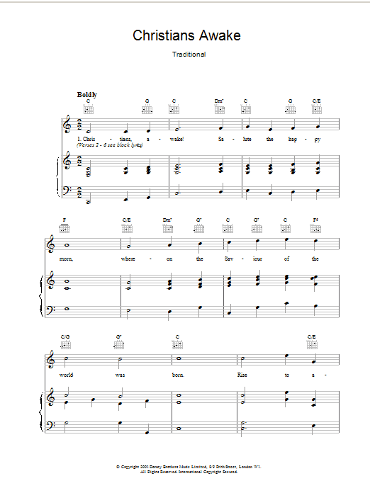 Christians Awake Sheet Music