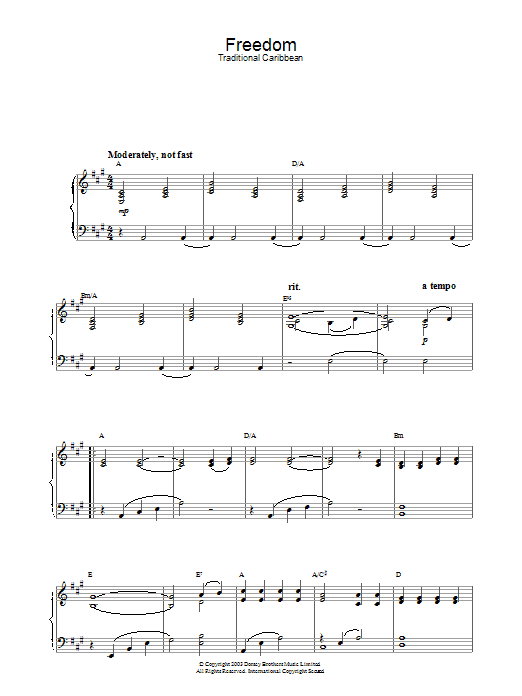 Freedom Sheet Music