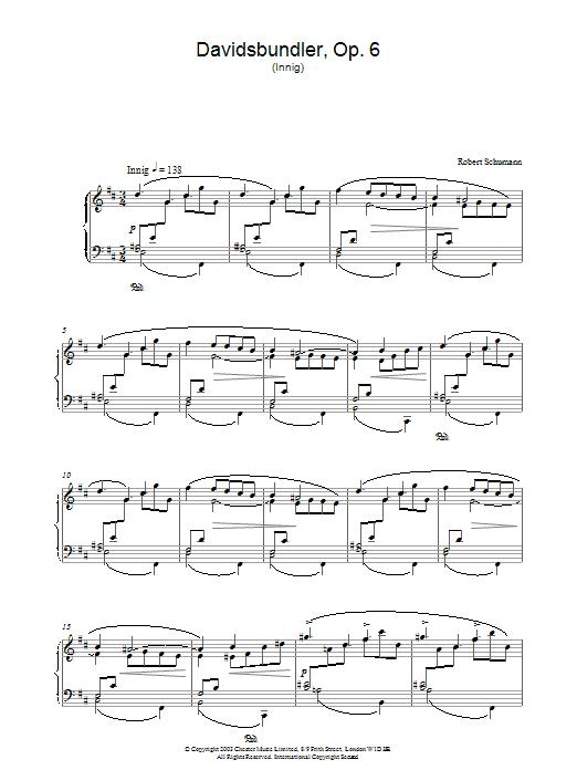 Davidsbundler, Op. 6 (Innig) Sheet Music