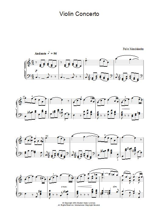 Violin Concerto (Piano Solo)