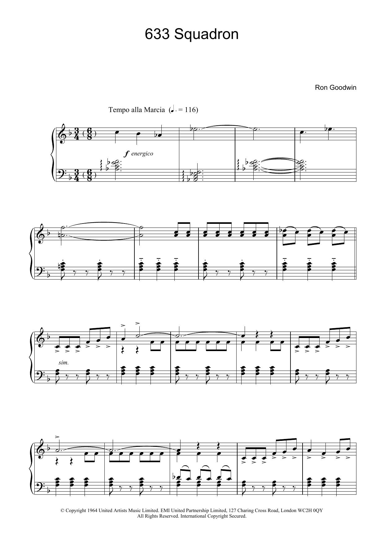 633 Squadron (Piano Solo)