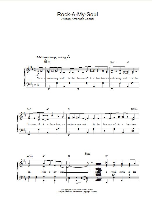 Rock-A-My-Soul Sheet Music