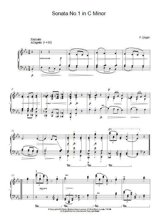 Sonata No. 1 In C Minor (Piano Solo)