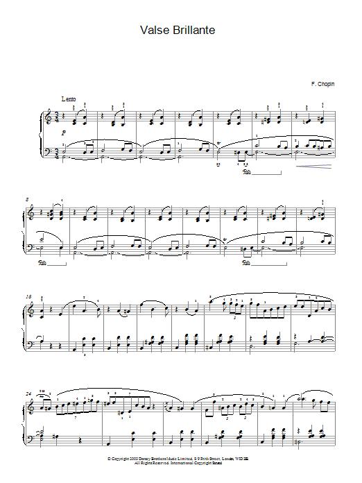 Waltz In A Minor Op 34 No 2 Valse Brillante By Frederic Chopin Piano Solo Digital Sheet Music
