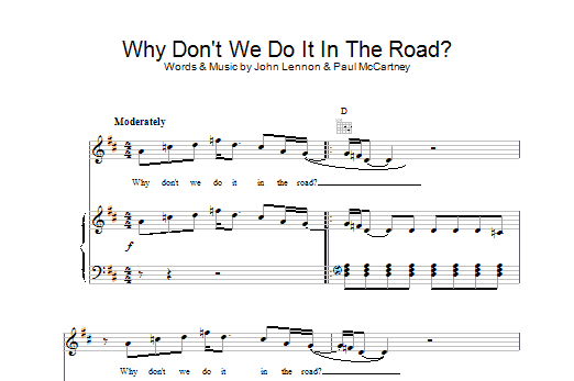 Why Don't We Do It In The Road Sheet Music