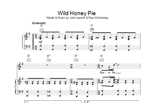 Wild Honey Pie Sheet Music
