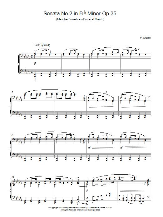 Sonata No.2 in B Flat Minor Op 35 (Funeral March) Sheet Music