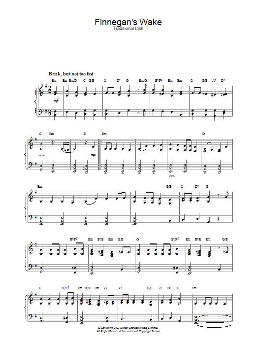 Finnegan's Wake Sheet Music
