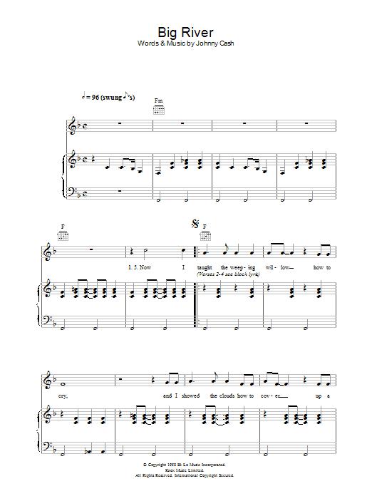 Big River (Piano, Vocal & Guitar)