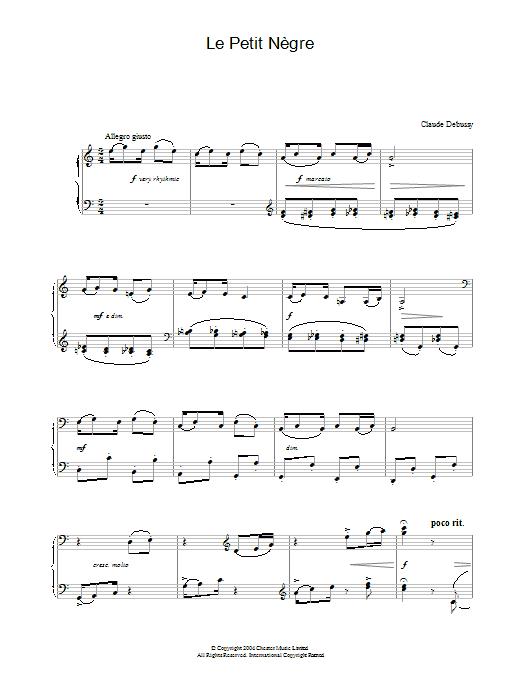 Le Petit Nègre Sheet Music