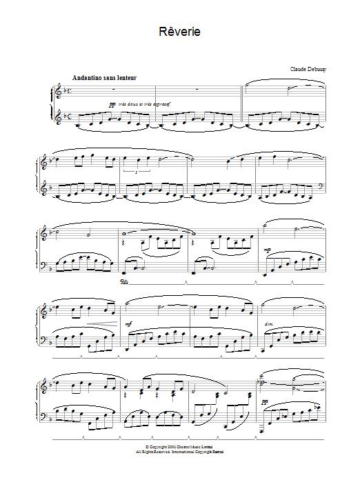 Rêverie Sheet Music