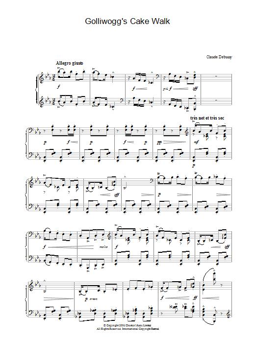 Golliwogg's Cake Walk (Piano Solo)