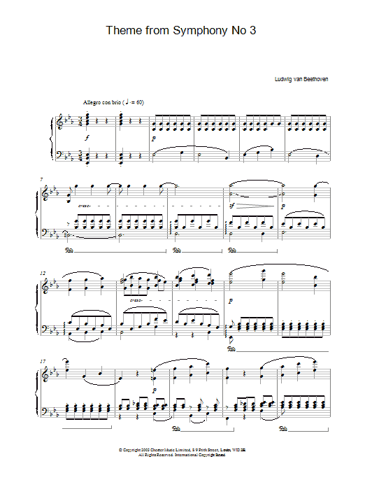 Theme From Symphony No. 3 (Piano Solo)