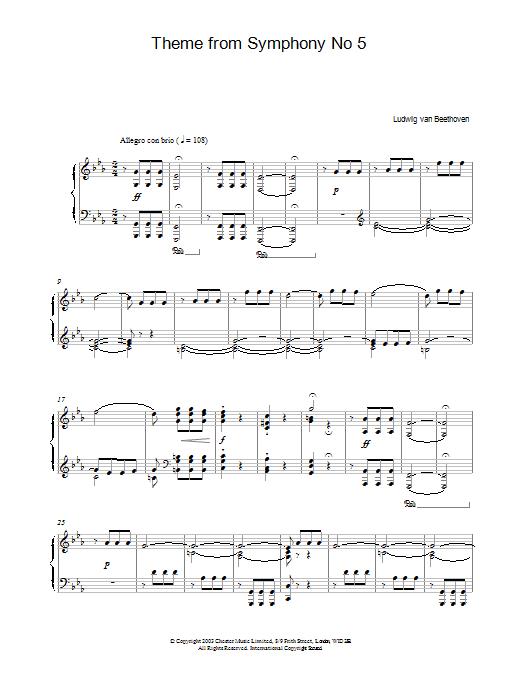 Theme From Symphony No. 5 (Piano Solo)