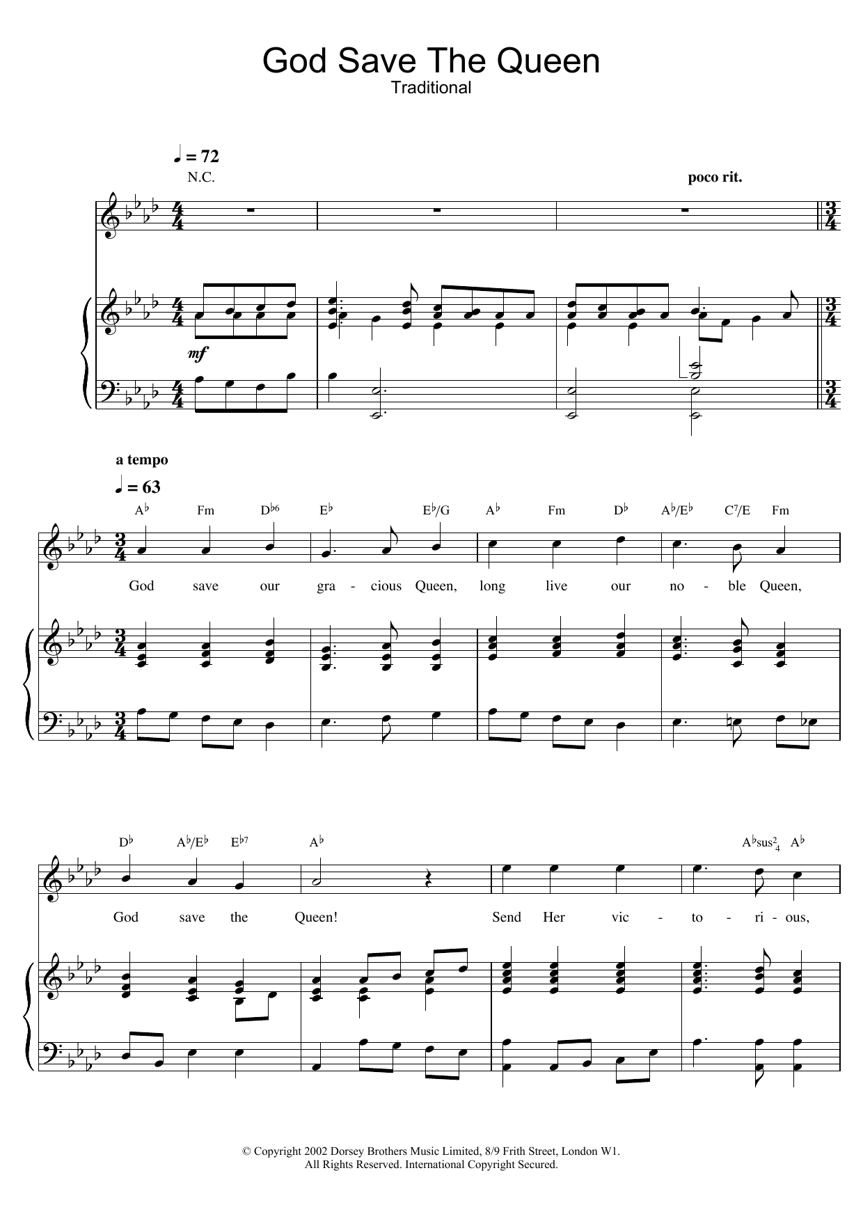 God save the queen guitar chords