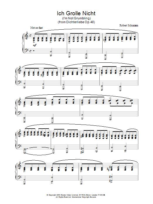 Ich Grolle Nicht (Piano Solo)